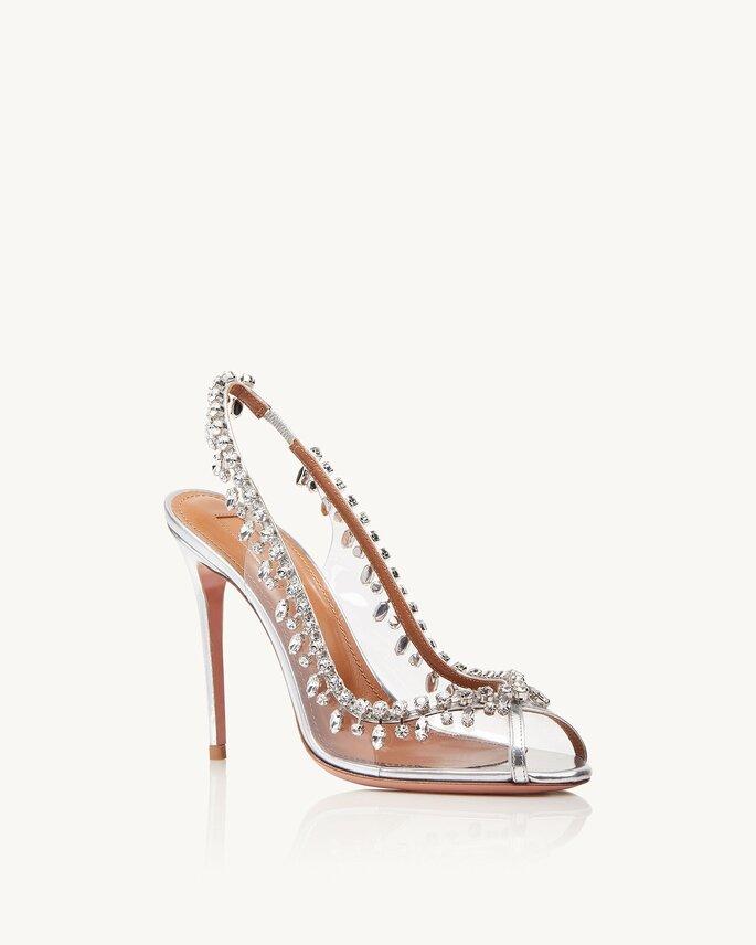 Chaussures de mariée transparente