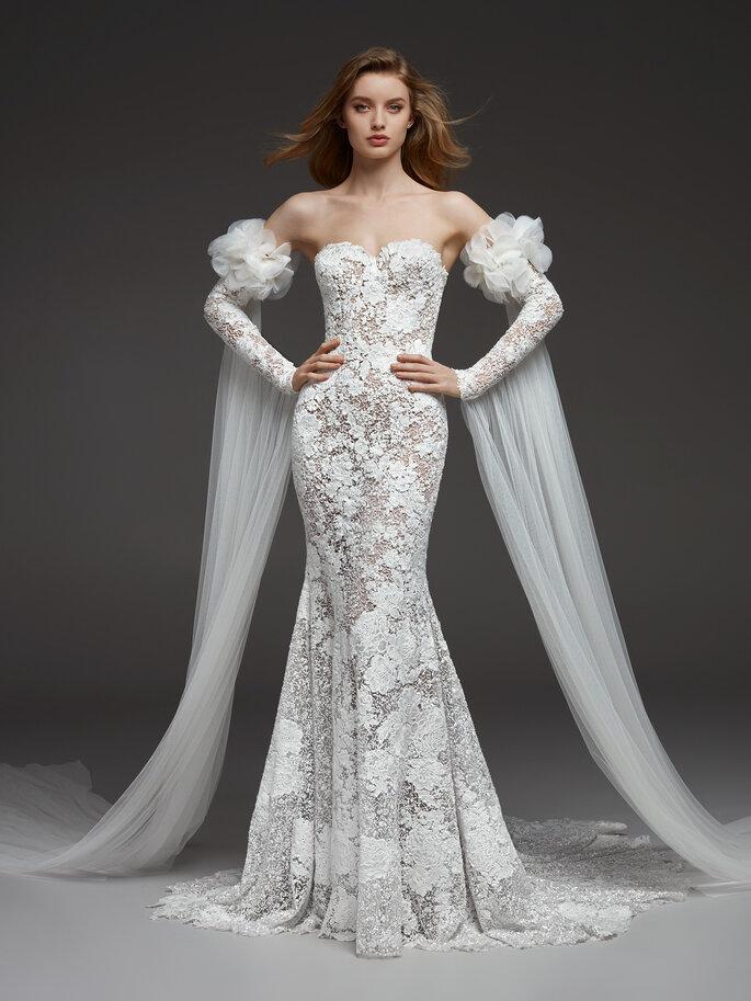 Robe de mariée sirène bustier dentelle