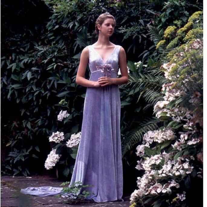 vestidos de novia de color lila
