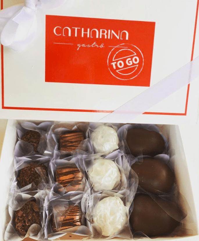 Caixa com doces da Catharina TO GO
