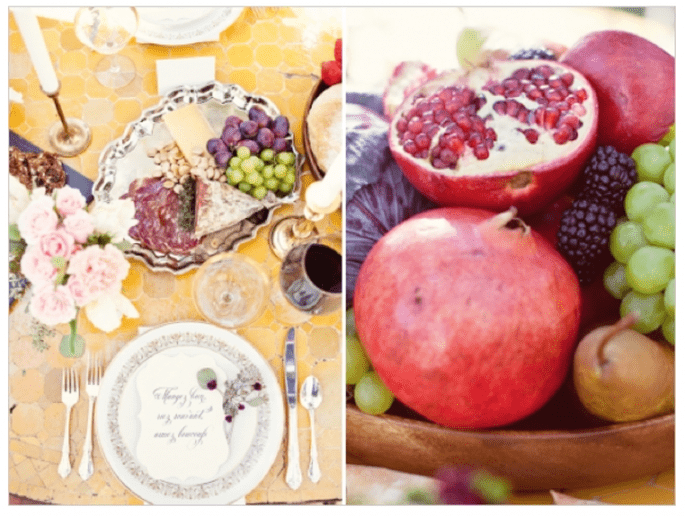 Fruits in your wedding decor - Photo: Half Orange Photography