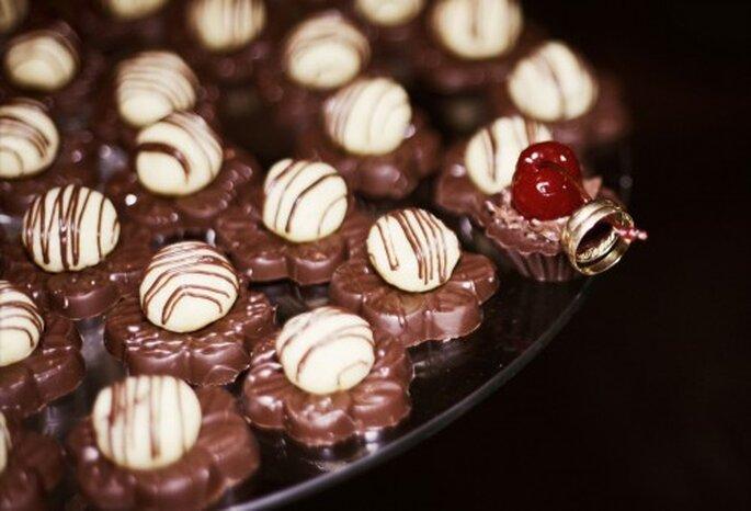Los chocolates están entre los favoritos de los invitados. Foto: Cinthia Miranda Fotografia