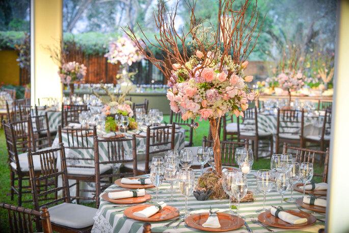 Decoración del banquete de boda