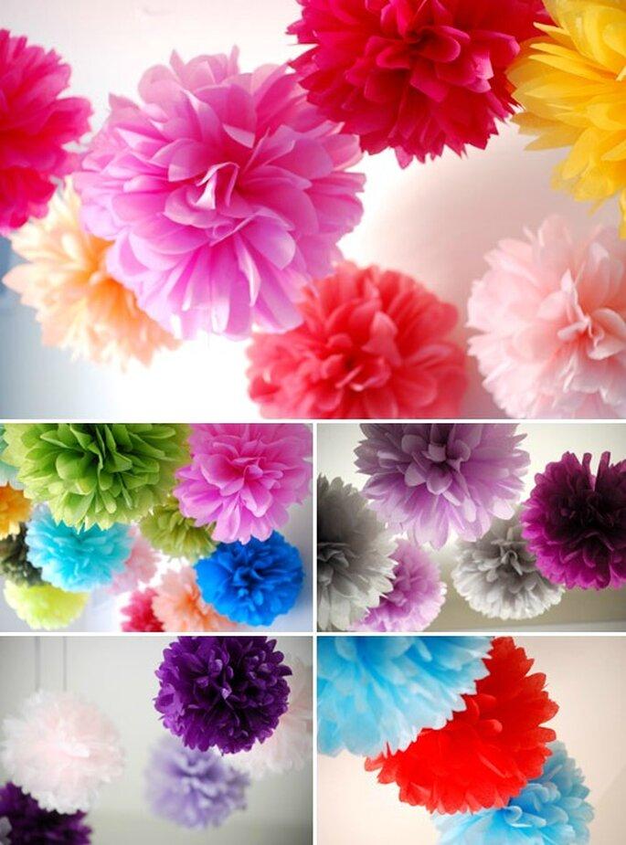 Alcune idee per realizzare originali fiori di carta multicolori! Foto 100matrimoni.it