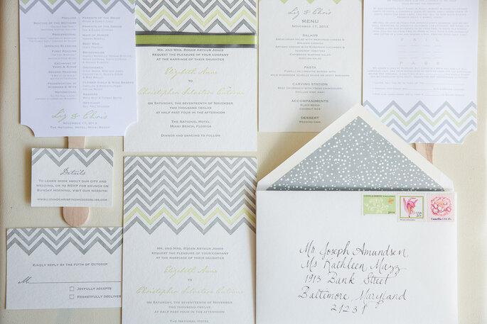 Chevron en la decoración de tu boda - 13.13 Photography