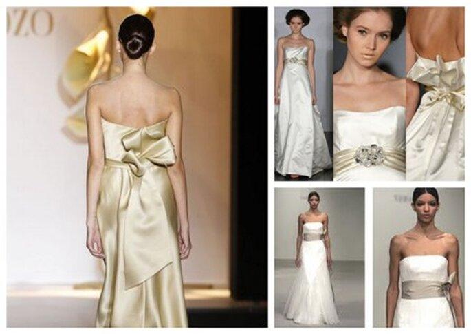 Vestidos de Noiva dourados e prateados