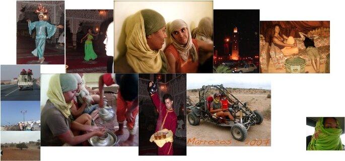 A Inês e o Bruno em Marrocos