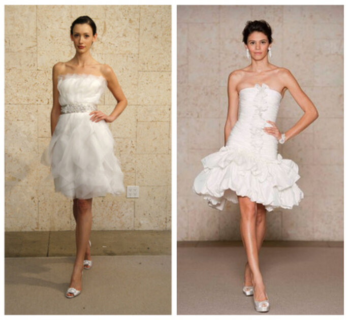 Vestidos de novia cortos, Óscar de la Renta 2012