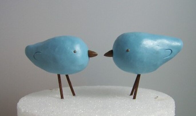 Custom  Wedding Cake Toppers on Custom Made Love Birds Cake Topper Colors Of Choice By Etsy Seller