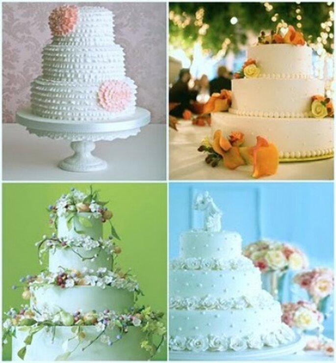 Diferentes modelos de torta para boda