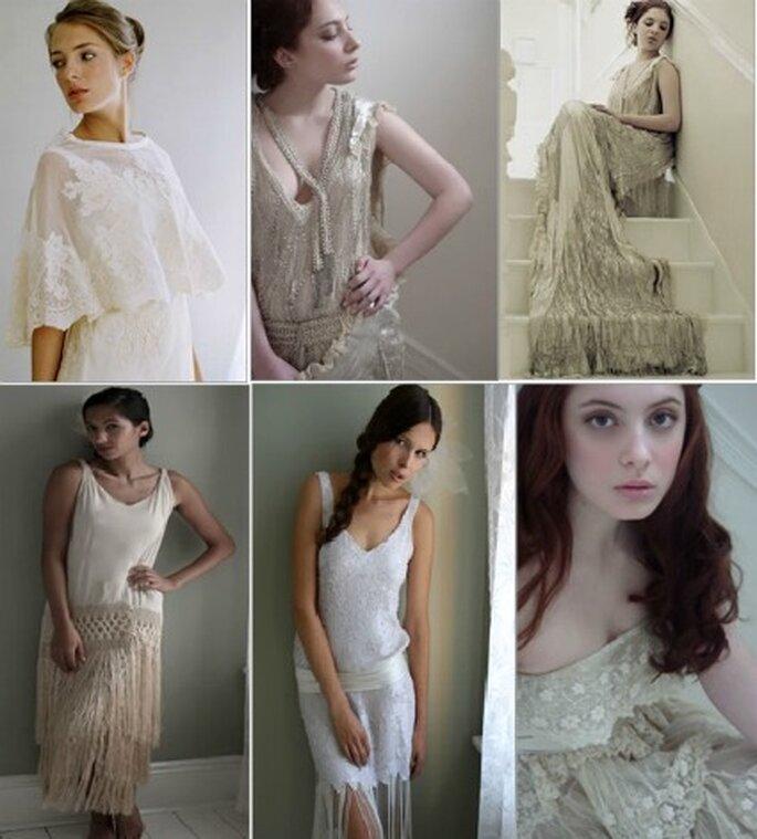 Preciosos trajes de novia de la década de los 20s