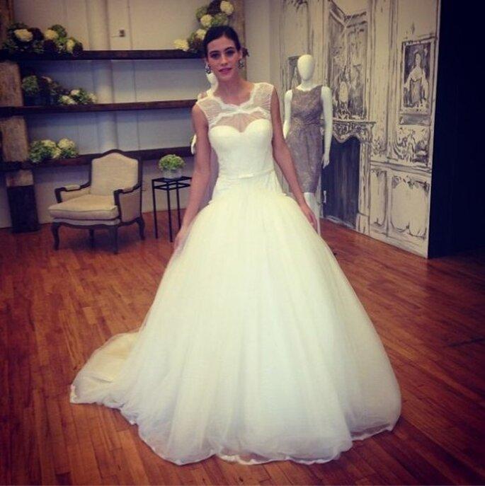 Elegante vestido de novia por Zac Posen - Foto Zac Posen Pinterest