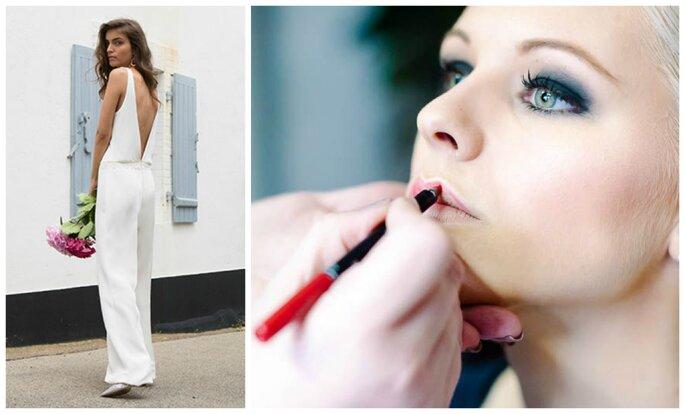 Photo à gauche : Modèle Tim, Fabienne Alagama / Photo à droite : Maquillage MissDelph Beauté