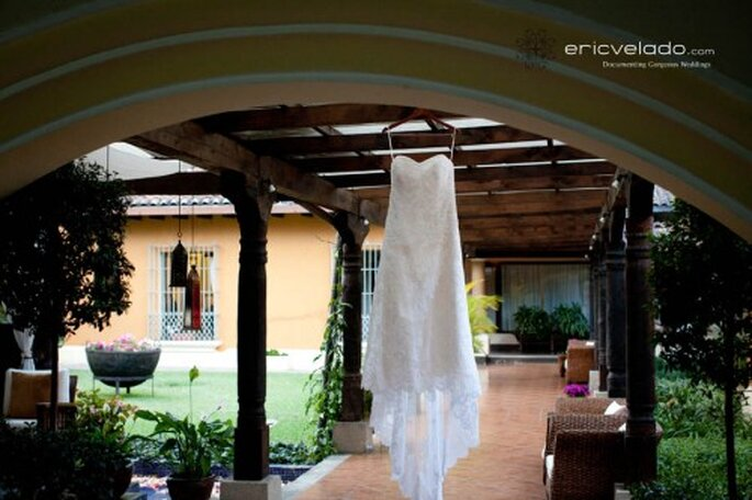Fotografía del vestido de novia. Imagen Eric Velado