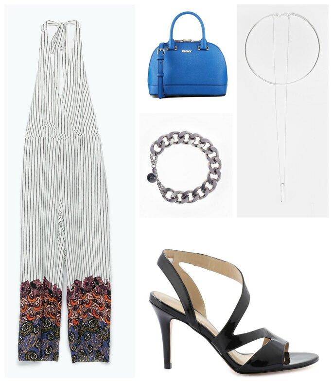 Combinaison : Zara / Chaussures : Jonak / Sac : DKNY / Collier : Asos / Bracelet : Ma Demoiselle Pierre