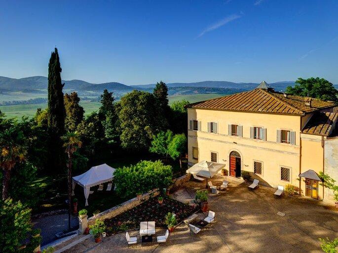 Villa Sabolini, lieu de réception pour votre mariage en Italie, à Sienne