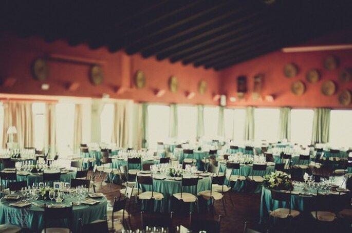 Mesas de boda en Azul Turquesa. Fotografía Fran Russo