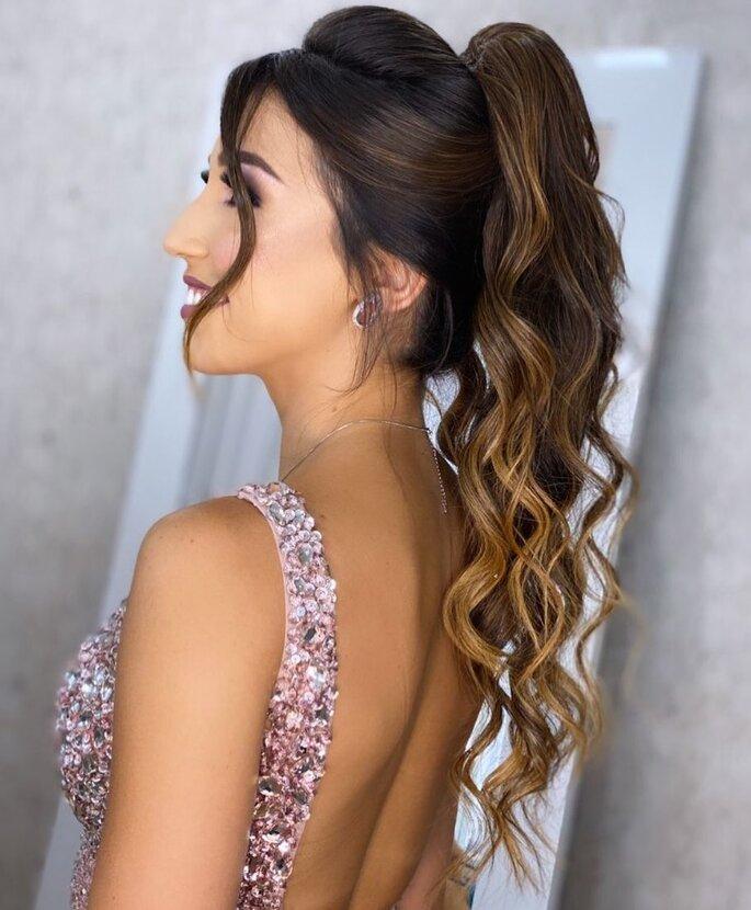 Peinados de novia con cola