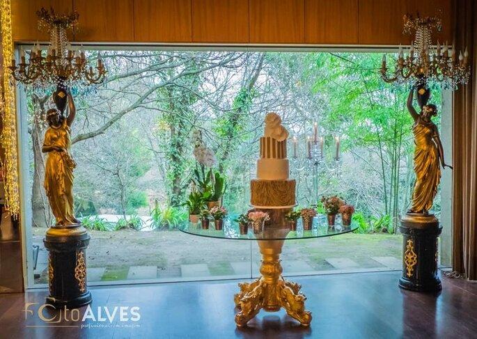 Bolo e decoração por Quinta dos Bambus