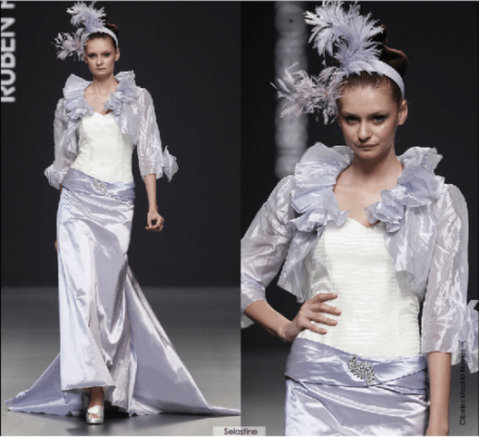 Vestido Selastine, colección 2012 Rubén Perlotti
