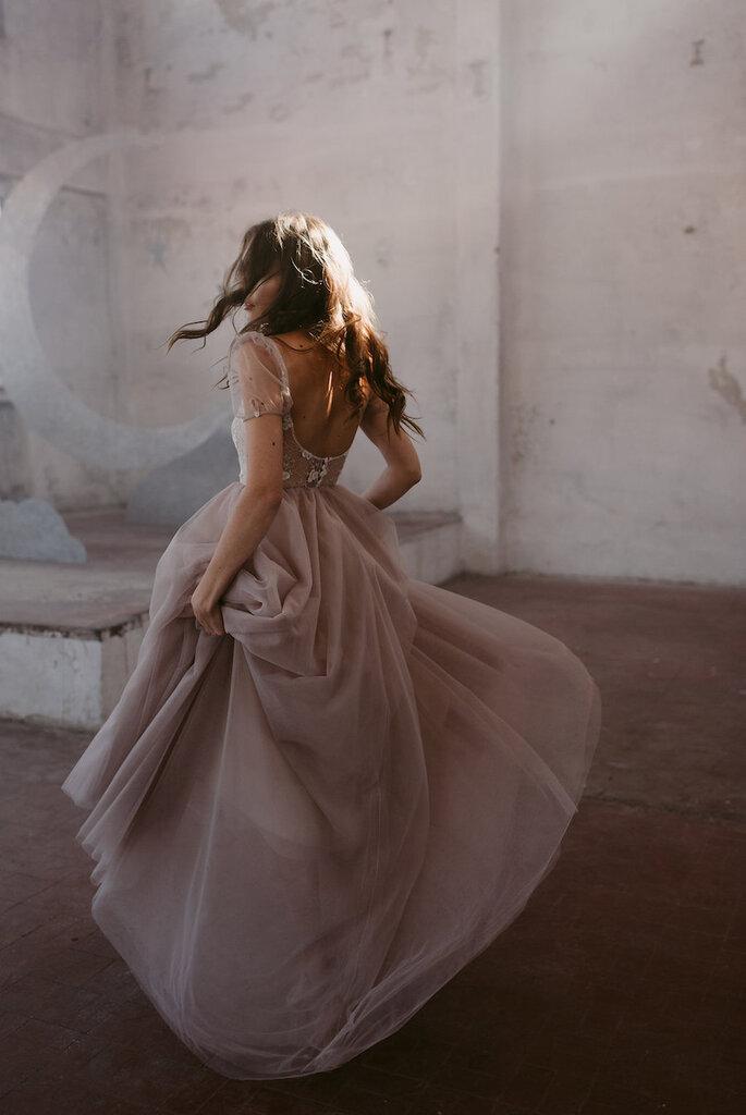 Vestido de noiva nude