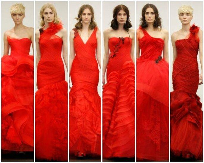 Vestidos de novia rojos, colección Vera Wang 2013. Foto: Vera Wang
