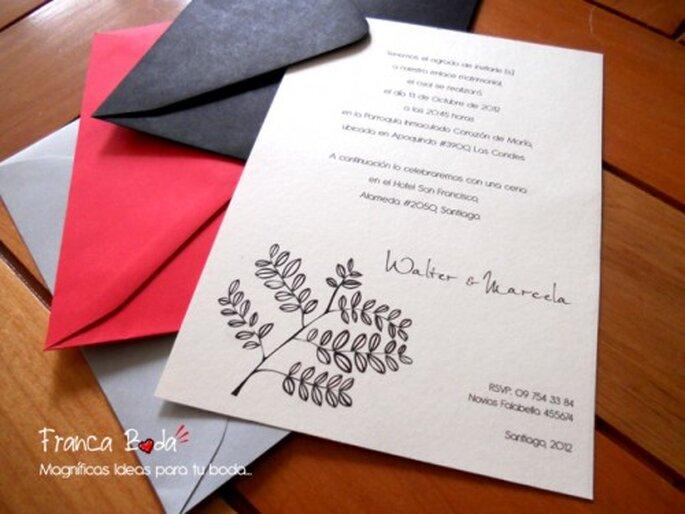 Invitaciones de boda con detalles elegantes - Detalles de boda elegantes ...
