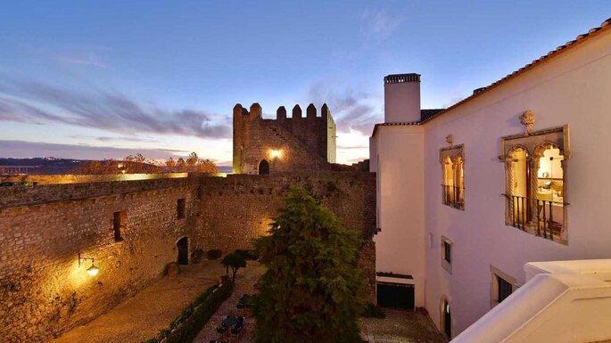 Restaurante e pousada dentro do Castelo de Óbidos. Foto: Divulgação / Pousadas de Portugal