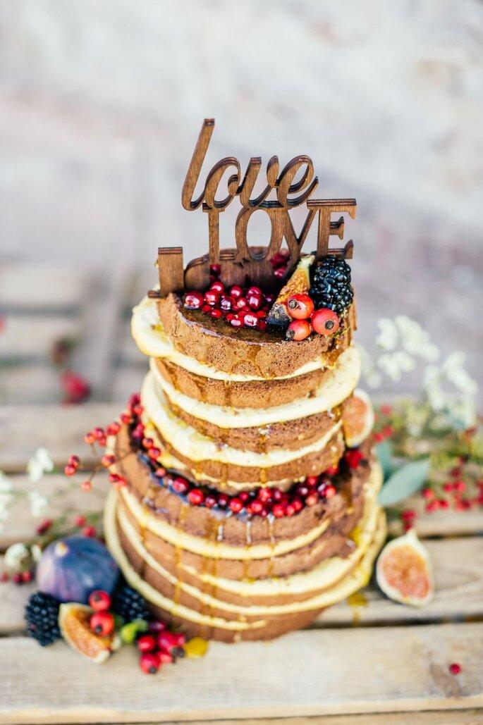 Naked Cake Dekoration