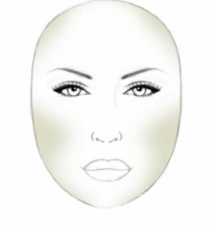 Corrections à appliquer sur un visage rond - Source photo : P Matias