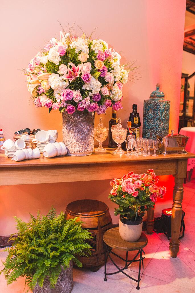 Mesa do café no casamento