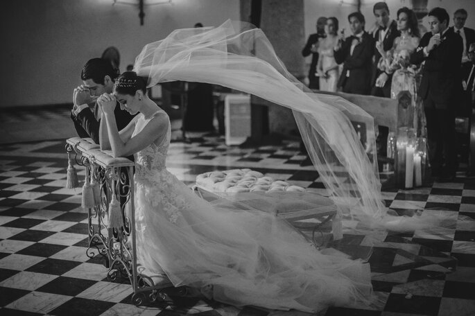 Jorge Goenaga Fotografia novios en el altar