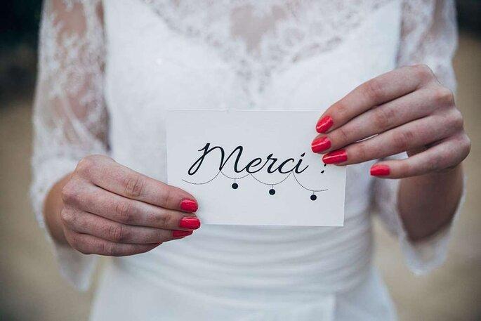 Mot remerciement invités mariage