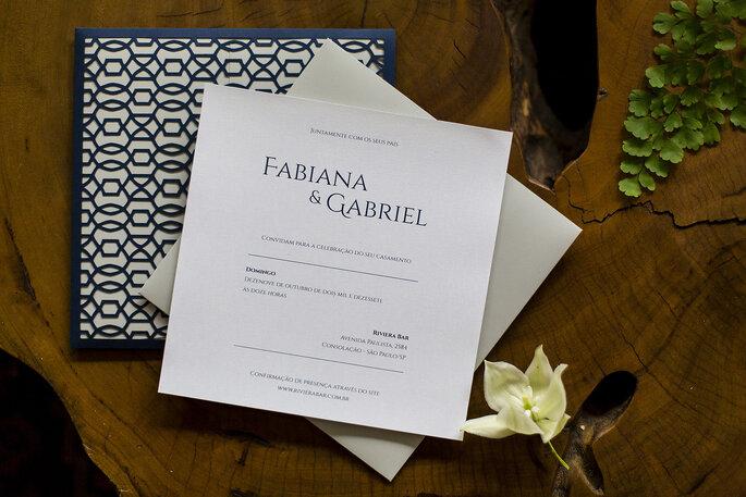 Convite para casamento urbano