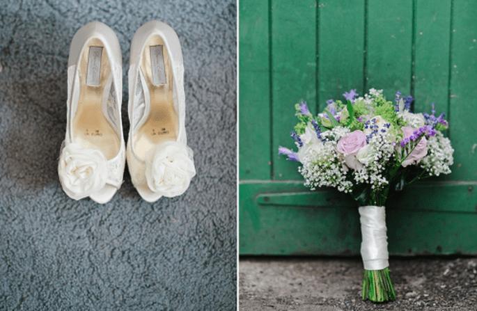 Accesorios y ramo de la novia - Foto Nadia Meli