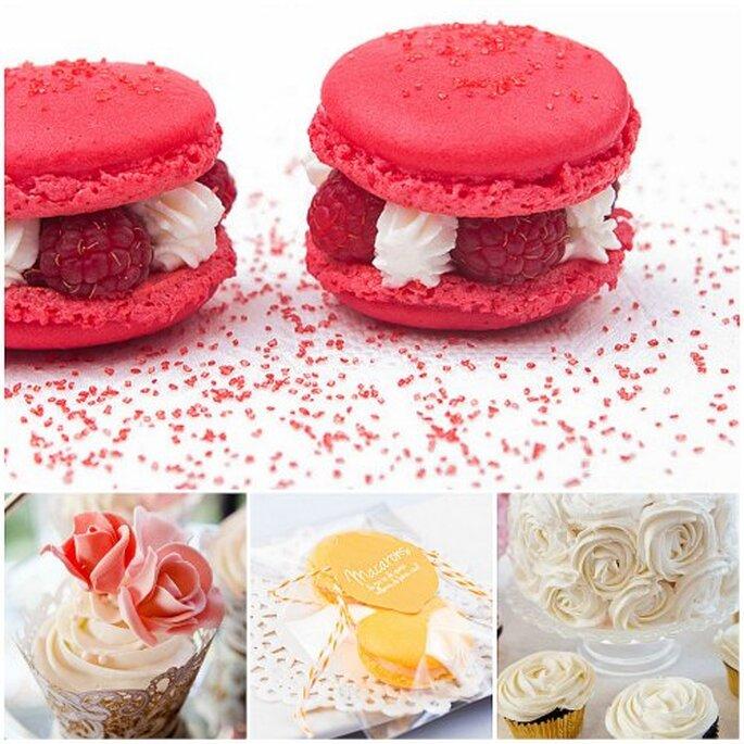 Macarons, cupcakes y tartas decoradas, de Charo Chic Cakes y Fanny Funny