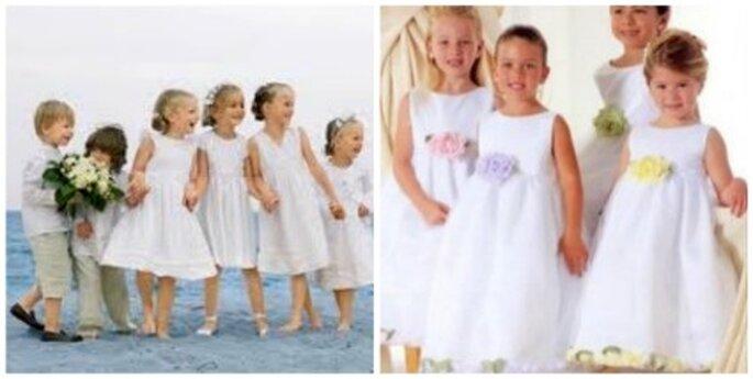 Los niños hasta la iglesia