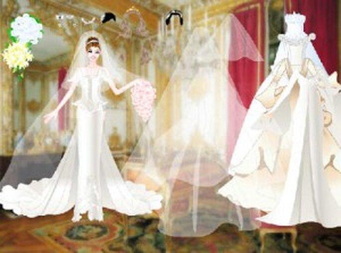 Con el simulador y los juegos de novia de internet podrás crear el vestido de novia que quieras
