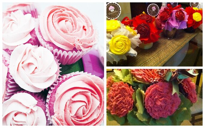 Cupcakes gourmet para boda. Fotos del sitio de  HC cupcakes.