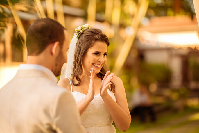 Aplauso noiva