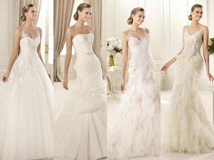 Verspielte und pompöse Brautkleider sind nach wie vor sehr beliebt – Foto: Pronovias