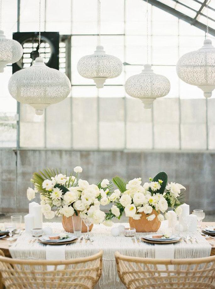 Boho Chic Hochzeitsdekoration Tisch