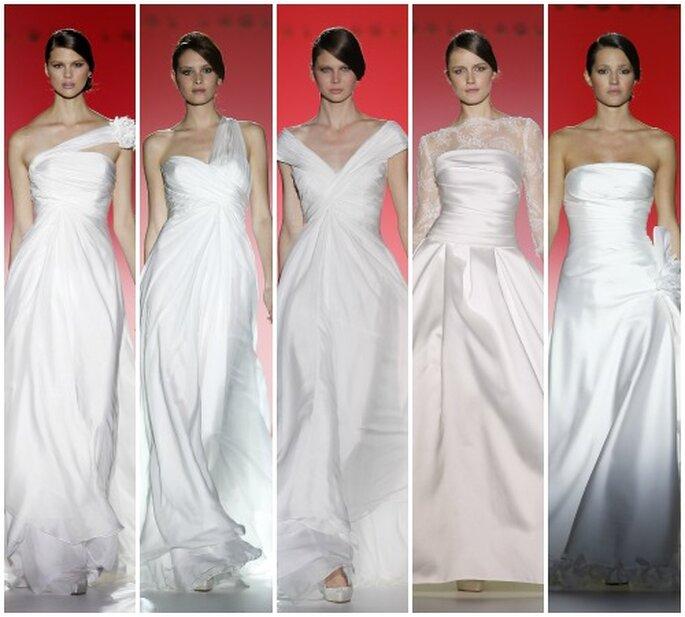 Las estrellas de Hollywood inspiran la colección 2013 de Hannibal Laguna. Foto: Barcelona Bridal Week