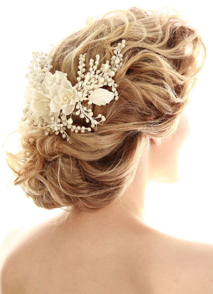 Arranjo de flores para penteado