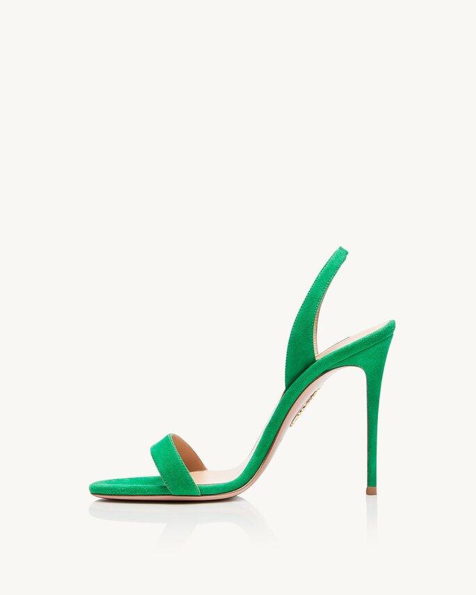 Chaussures de mariée vertes et originales