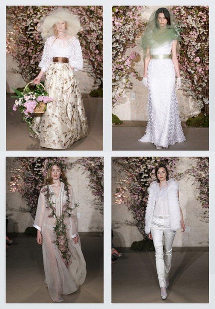 Das etwas andere Brautgewand von Óscar de la Renta 2012
