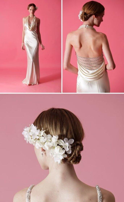 Raccolti da sposa alle sfilate primaverili 2013 di Badgley Mischka