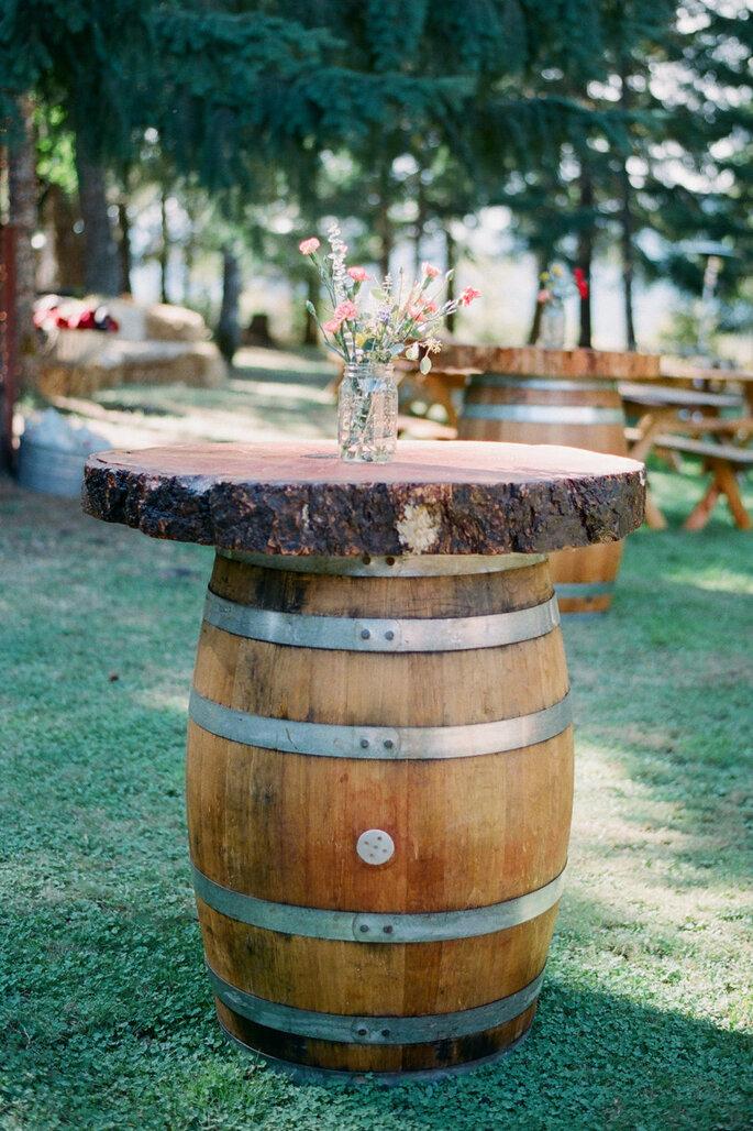 Barril na decoração de casamentos