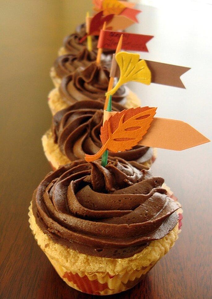 Cupcakes de otoño de HalfBaked