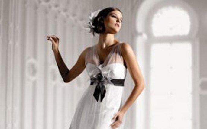 Brautkleider in Schwarz-Weiss von Elisabeth von Mode de Pol